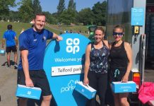 Free recipe boxes containing healthy Co-op food products were handed out at Telford parkrun