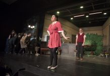 Alice Williams on stage during a performance of Little Shop of Horrors