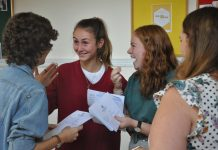 Smiles all round at Shrewsbury High School