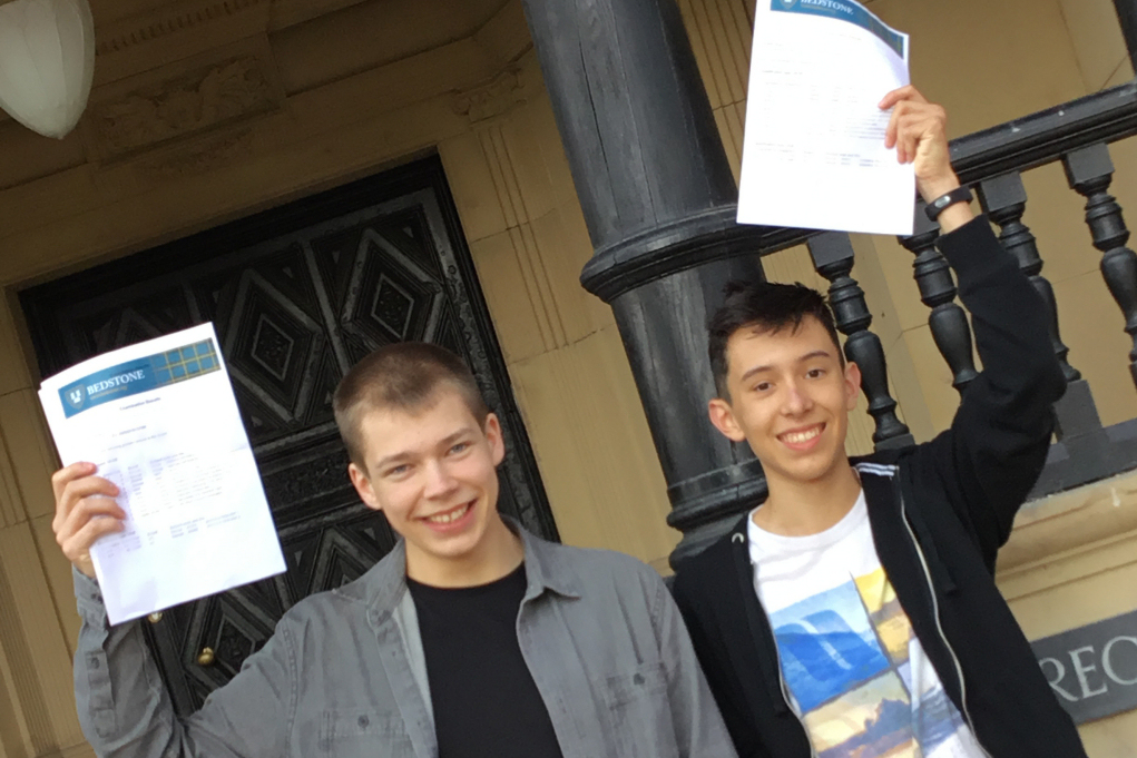 Dominic Hall and Arjen Olive are happy with their results