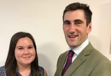 Emma Pryce, placement student and Edward Tyler, graduate surveyor