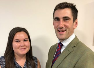 Emma Pryce, placement student and Edward Tyler, graduate surveyor