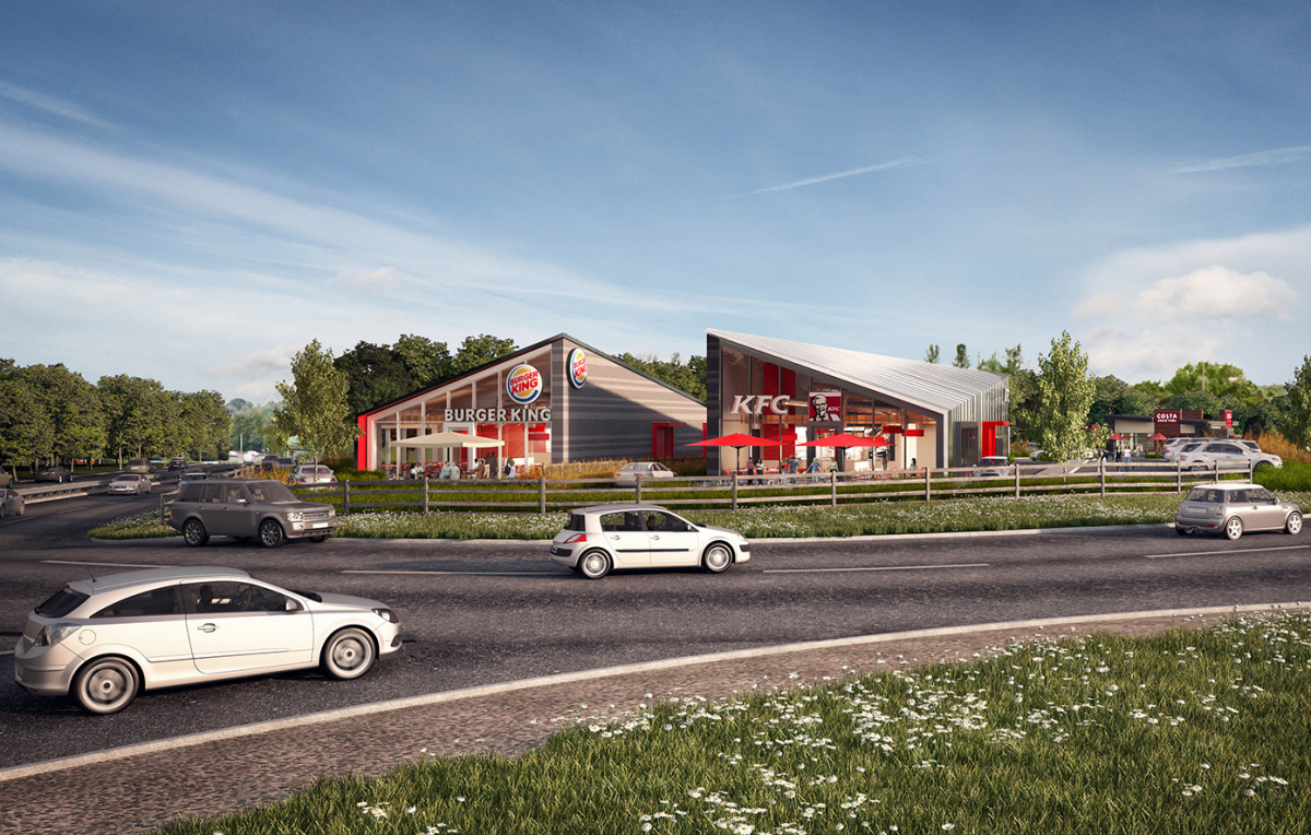 An Artist Impression Of How The New Drive Thru Roadside Park Will Look
