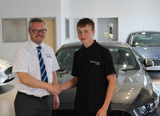 Furrows of Oswestry General Manager Richard Pettener and apprentice Thomas Simmonds