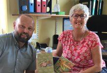 Dave Williams from Henshalls and Sandra Surtees Shrewsbury Folk Festival director