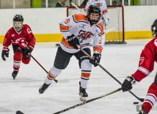 Telford junior ice hockey player Grace Garbett in action. Photo: Kieren Griffin Photography