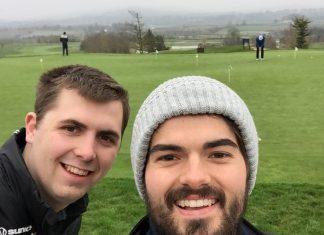 Last year's winners Sam Allen and Josh Davies from Whittingham Riddell (enjoying their golfing holiday to Ireland)