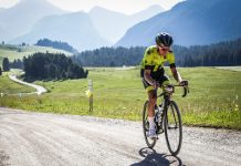 Team member Liam Holohan training hard for the Haute Route Alps