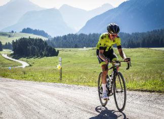 Liam Holohan training hard for the Haute Route Alps