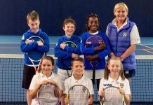 Members of Shropshire's nine and under team, seen here with Nikki Hoy, which competed at Edgbaston Priory in the County Cup last weekend, will be taking part in the County Championships at The Shrewsbury Club