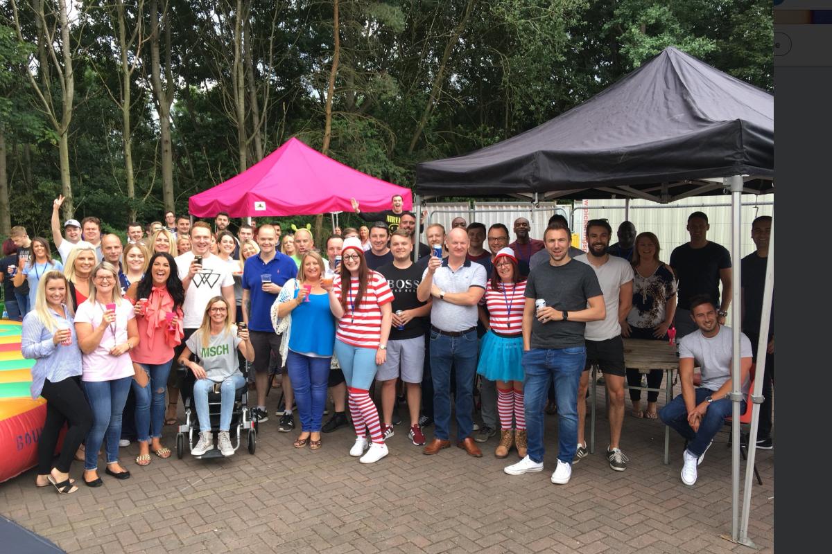The network telecom team at their annual Summer Fun Day