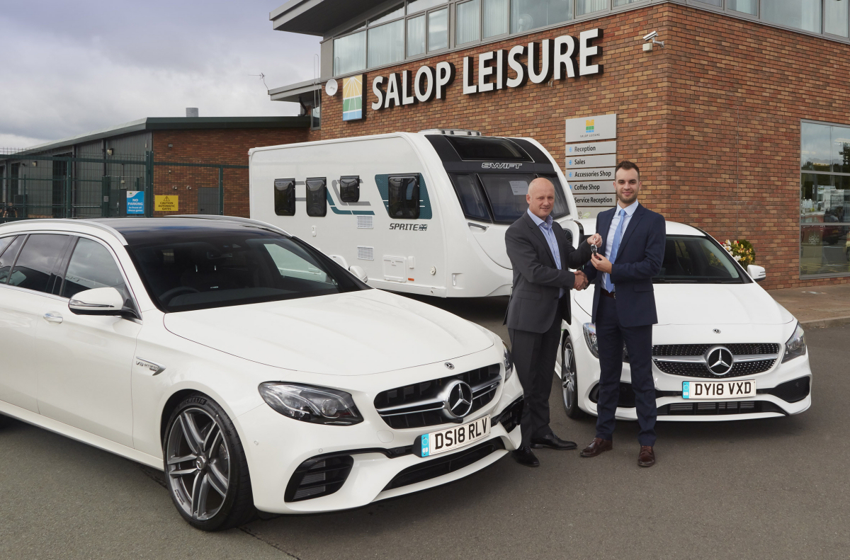 Robert Preston (left) From Mercedes Benz Shrewsbury And Ed Glover From  Salop Leisure With
