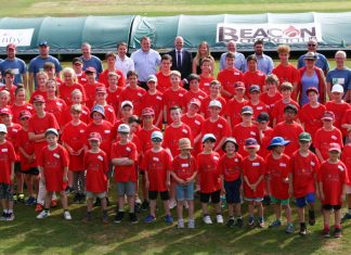 Youngsters who took part in the summer camp with organisers, providers and sponsors