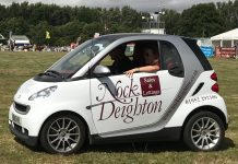 Nock Deighton's Smart Car will be one of the lead cars at the race