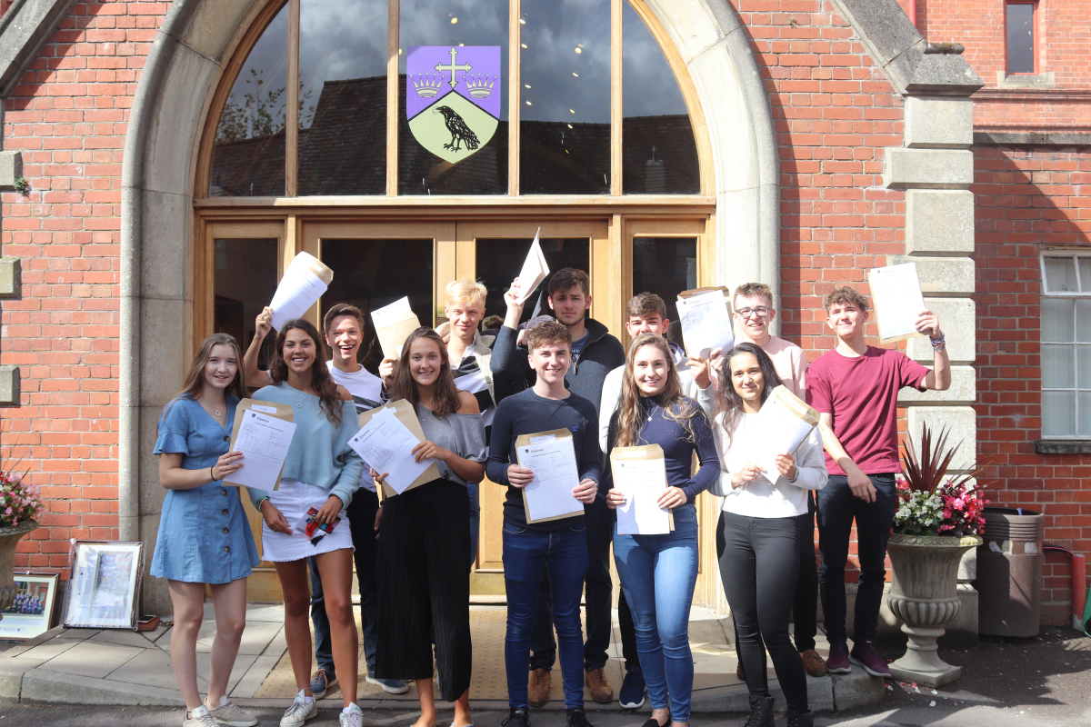 Students at Ellesmere College celebrate A level exam success