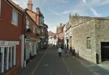 The incident happened during the early hours of Sunday in Tower Street, Ludlow. Photo: Google Street View