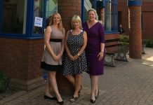 Helen Leathers, Kim Gilmour and Hollie Whittles