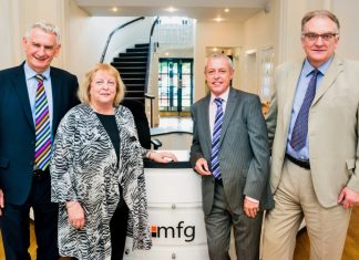 Brian Flint (Pearson Rowe), Suzanne Lee (mfg Solicitors), Mike Deeley (Pearson Rowe) and Maynard Burton (mfg Solicitors)