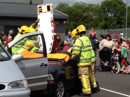 Visitors will be able to see two simulated rescues from crashed cars