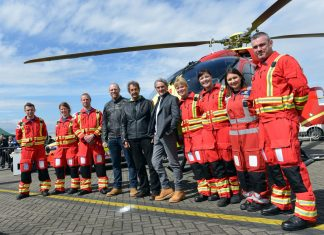 2018 VIPs Superbike champion and racing legend, Carl Fogarty, motorcycle and truck racing legend, Steve Parrish, former England rugby captain and 2003 world cup winner, Mike Tindall MBE and the Midlands Air Ambulance Charity aircrew
