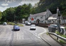 The collision happened outside the Bridge Inn on Chirk Bank. Photo: Google Street View