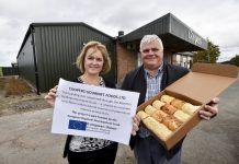 Caroline Cattle MBIG Programme Manager and Ivan Watkiss of Coopers Gourmet Foods