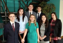 Starting their careers at Dyke Yaxley are, from left, Cian Iddison, Naomi Lloyd, Mark Pimblett, Lucy Cousins, Jack Foulkes, Charlotte Astle-Rowe and Shan Marlow-Spalding
