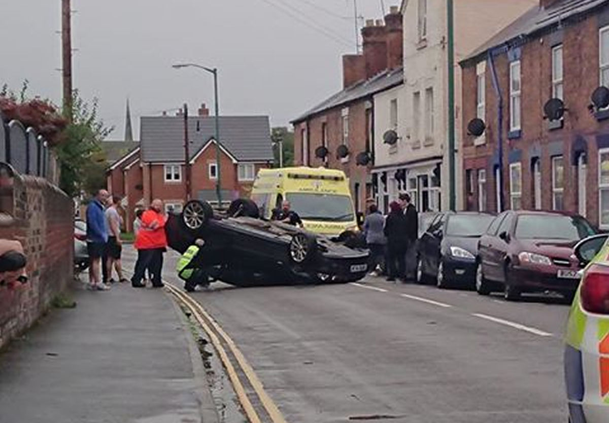 The scene of the collision on Ellesmere Road in Shrewsbury. Photo: Andrzej Słomiński
