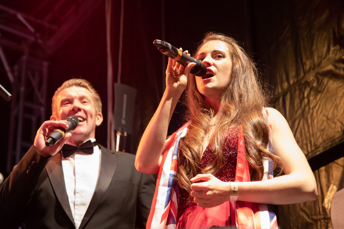 Mary-Jess and Jack Foley performed classical prom favourites Rule Britannia and Jerusalem among others
