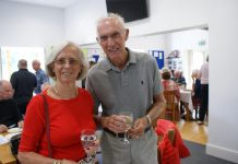 John and Marlene Antrobus are pictured at the event