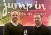 Gavin Cowan, left, managing director of Crossbar Coaching Education in Sport, and Duncan Kemp, the general manager of Jump In Shrewsbury