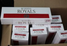 Some of the illegal cigarettes found at the store