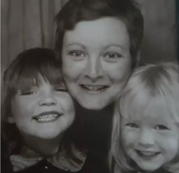 Susan Maughan pictured with two of her daughters inhaled asbestos dust following a fire at COD Donnington in 1983
