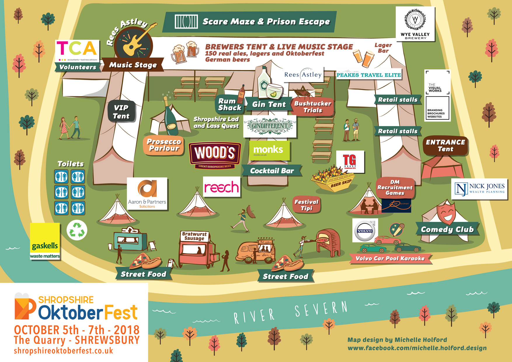 Shropshire oktoberfest map 2018