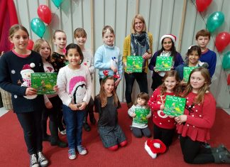 Author Lorna McCann, pictured with schoolchildren at the 2016 event, is due to make a return to this year's event with other authors from Team Author UK