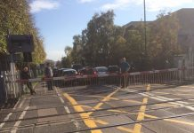The scene of the incident at Harlescott level crossing in Shrewsbury. Photo: Barbara Collins