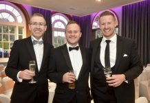 Base Director Carl Huntley, Senior Associate Bryn Jones and Director Harry Reece marked 15 years in business by hosting a charity ball for Severn Hospice