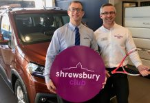 James Martin, left, the managing director of Budgen Motors, and Alvin Ward, the general manager of The Shrewsbury Club, are looking forward to next month's tennis tournament