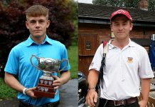 Golfers Conor White and Callum Brown