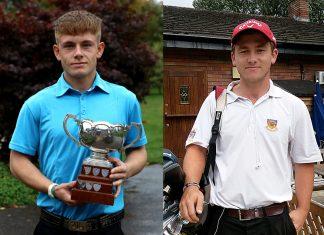 Golfers Conor White and Callum Brown