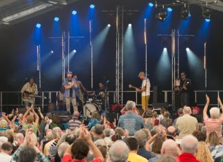 Festivalgoers at this year's Shrewsbury Folk Festival have helped to raise more than £7,000 to fund music therapy at Hope House. Photo: Steve Lacey
