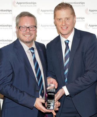 Richard Pettener and Antony Frost from Furrows with their Employer of the Year award