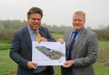 James Evans from Halls and Neal Hooper, managing director of Aico in Oswestry