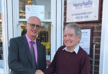 Henshalls director Mark Freeman with Ray Hughes from the Wellington Orbit project