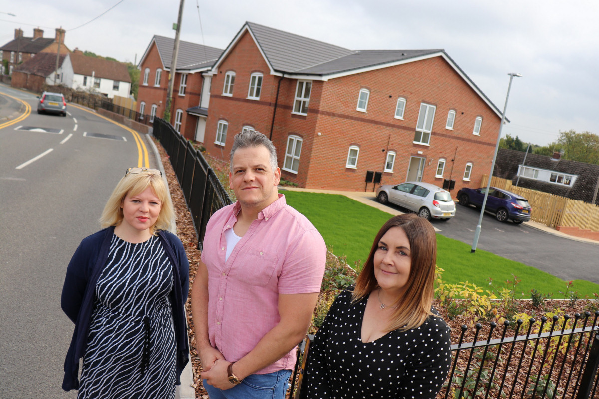 MyPlace manager Catherine Ashley (left) celebrates the opening of Bromford's latest supported housing scheme alongside housing enablers Luke Palmer and Jane Reevey