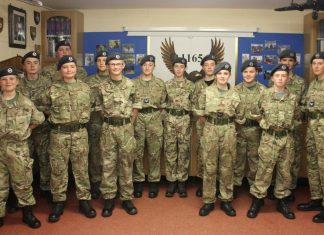 Cadets from 1165 Oswestry Air Training Corps will play a major role at the Old Oswestry hillfort WW1 beacon lighting on the evening of November 11