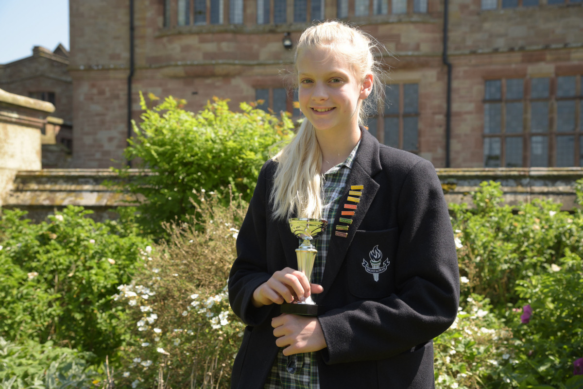 Imogen has secured a place in the national trampolining championships