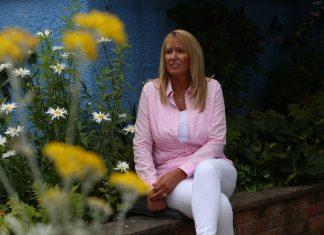 Karen in the Ty Gobaith Snowflake Garden