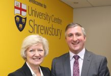 Professor Anna Sutton, Provost of UCS, and Robin Morris, Chairman of Morris & Company