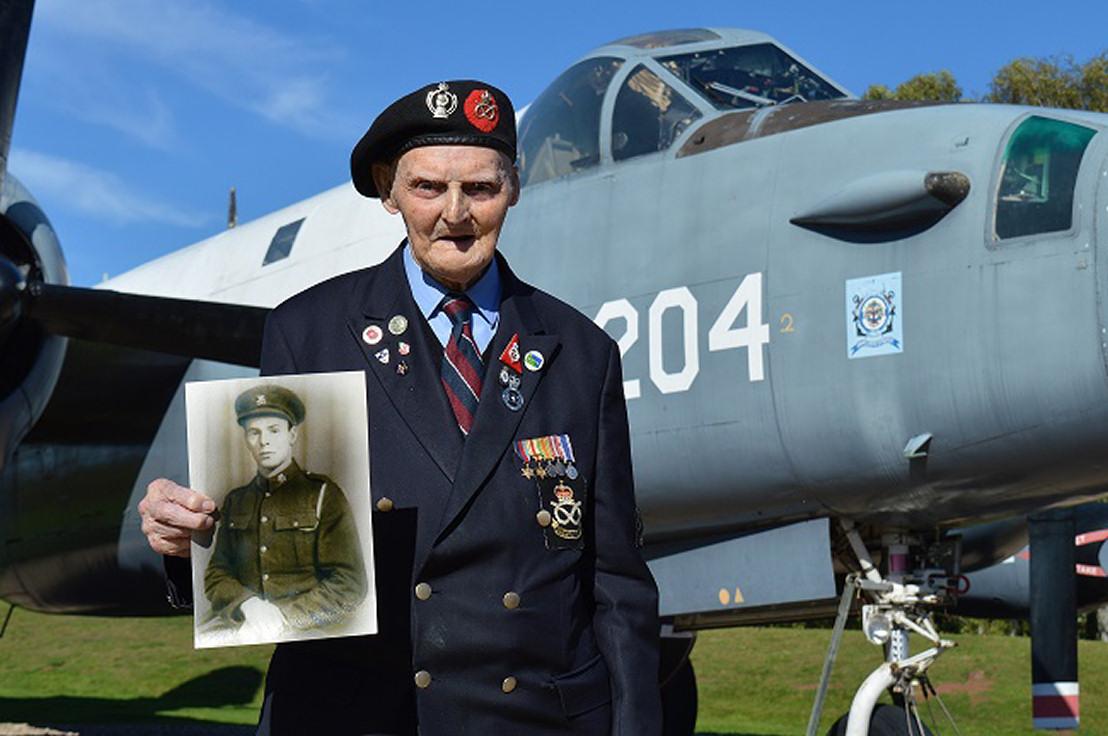 RAF Museum Volunteer and Veteran, Les Cherrington turns 100 this week